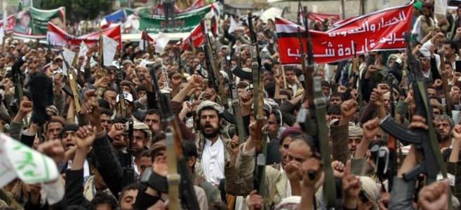 El imperialismo utiliza sus gobiernos lacayos para aplastar la revolución árabe…                      ¡ABAJO LA INTERVENCIÓN MILITAR SAUDITA EN YEMEN!